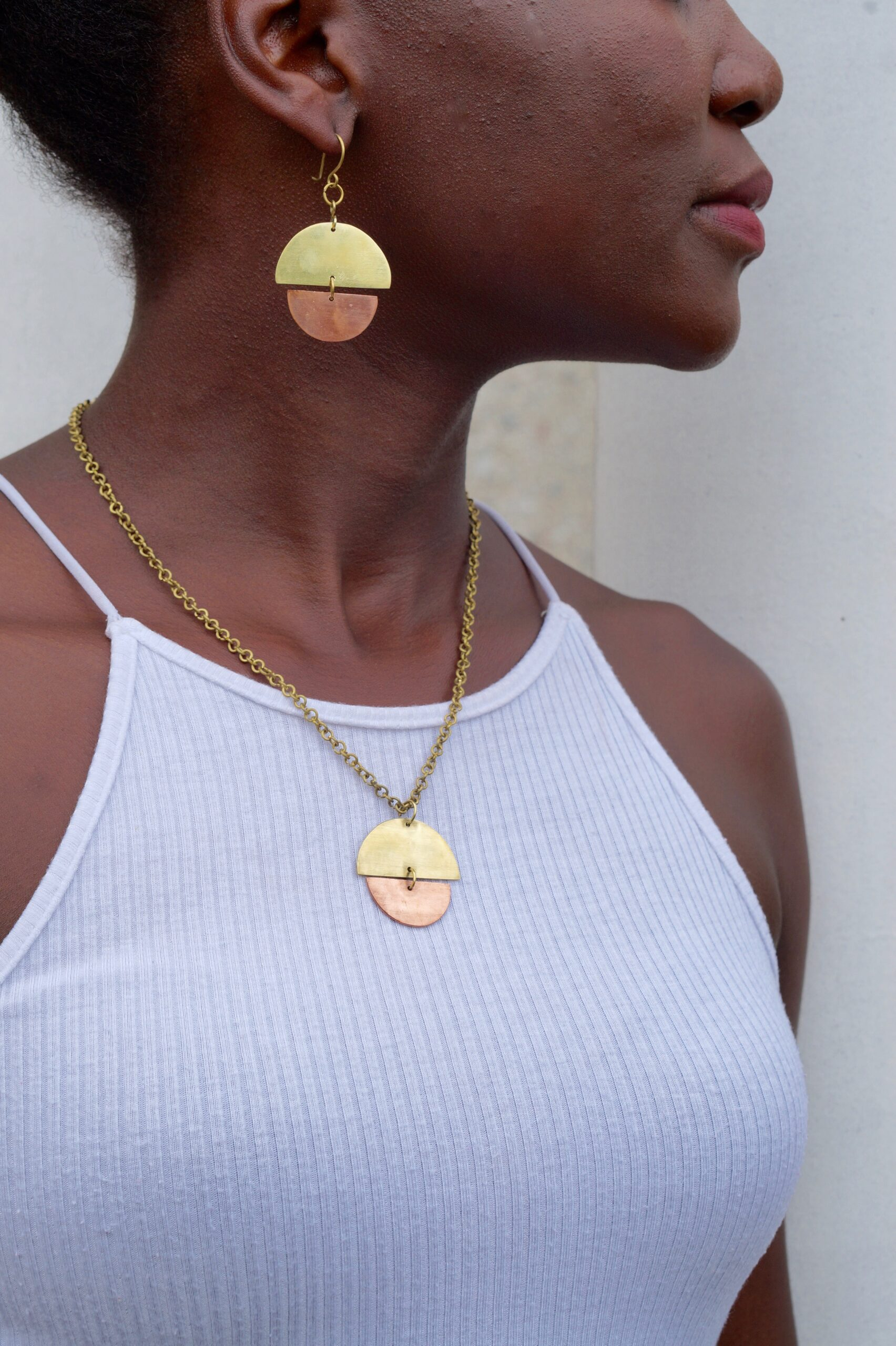 Geometric Earrings & Necklace